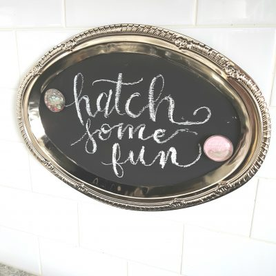 2 Step DIY Chalkboard Sign