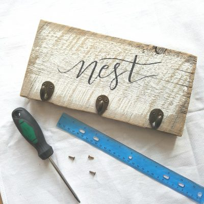 The Easiest Way to Transfer Lettering Onto Wood
