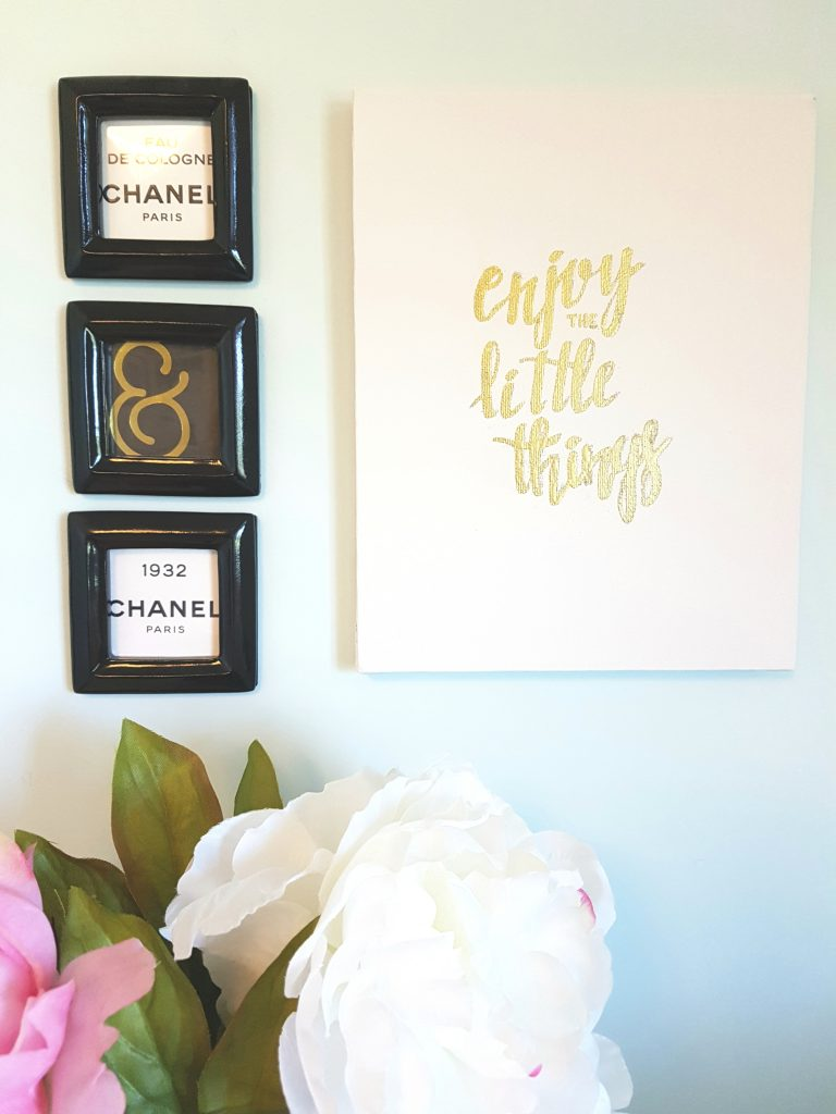 quick and easy diy gold foil canvas paper rose