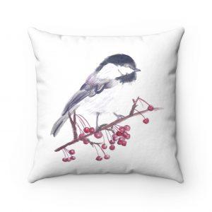 watercolour-chickadee-on-branch-pillow