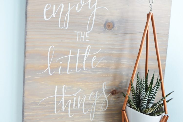DIY Weathered Wood Stain Sign in 3 Steps