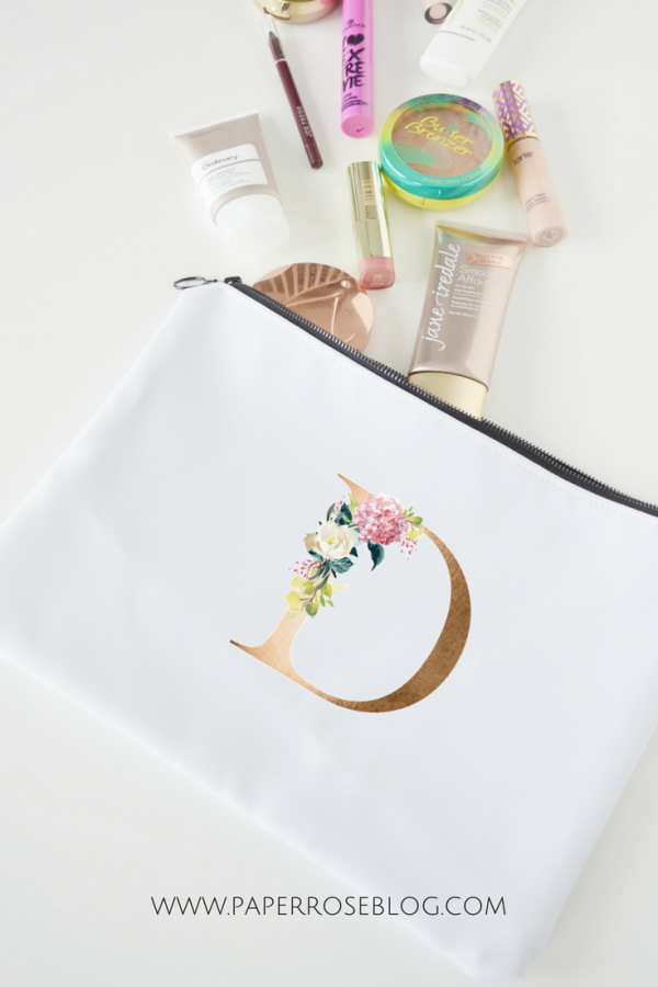 floral-letter-D-pouch-with-makeup
