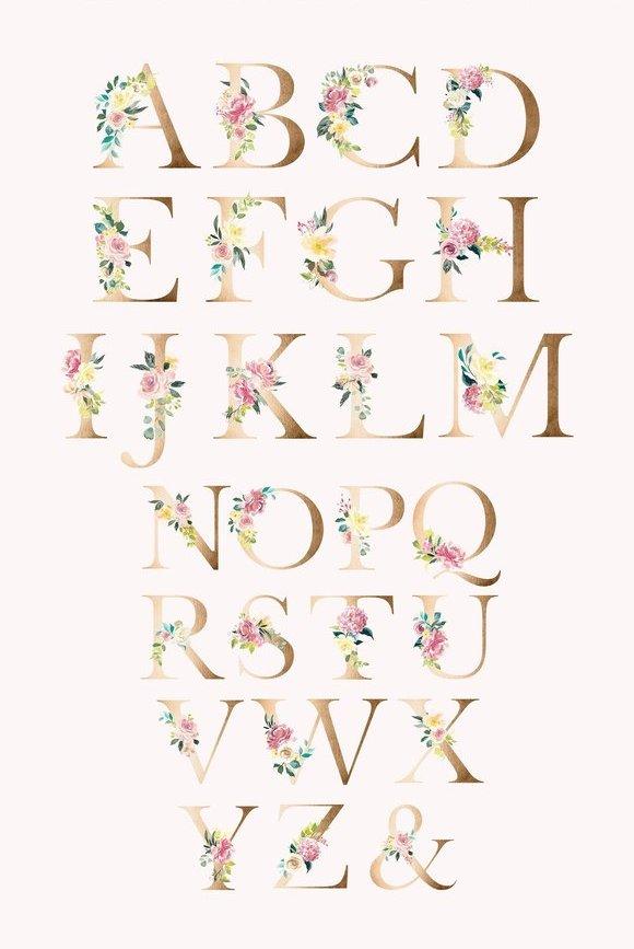 floral-alphabet-letters