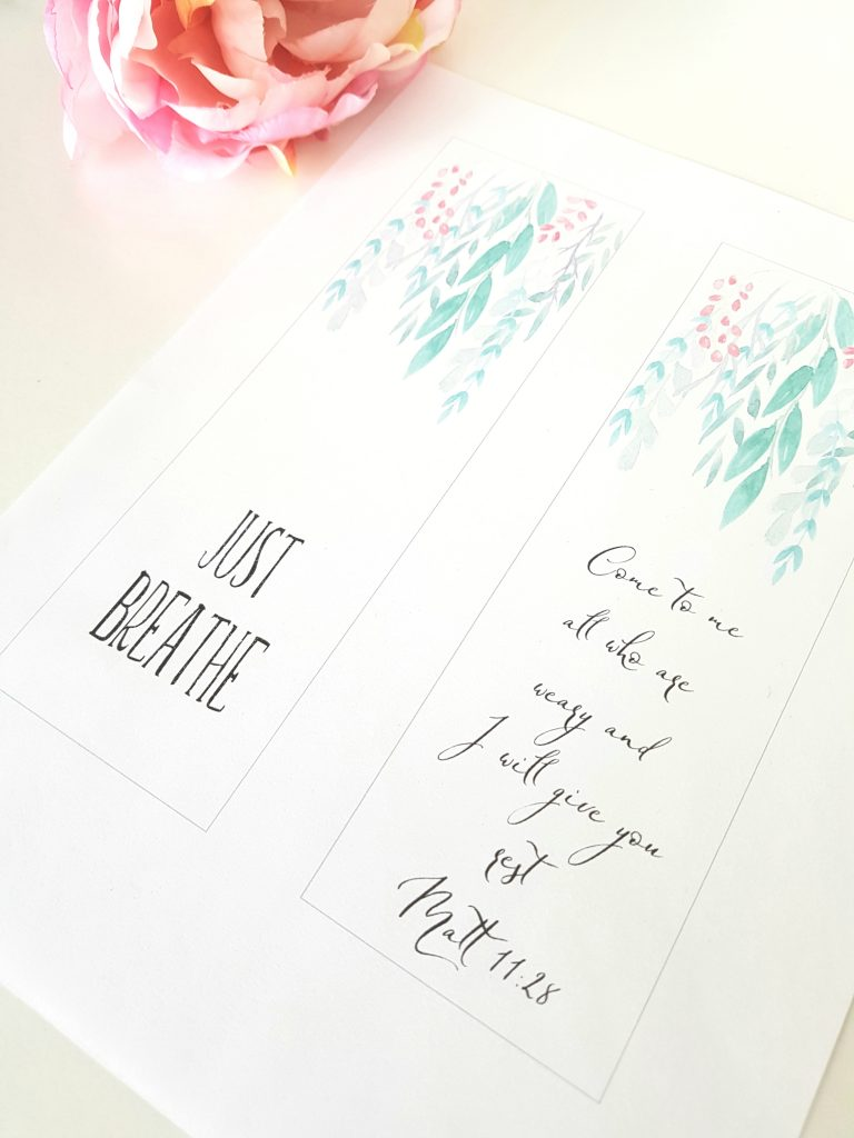 bookmarks-greenery-just-breathe-bible-verse