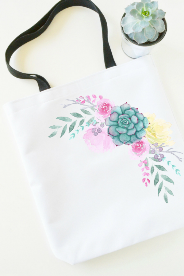 floral-tote-bag-flat-lay-succulent-plant