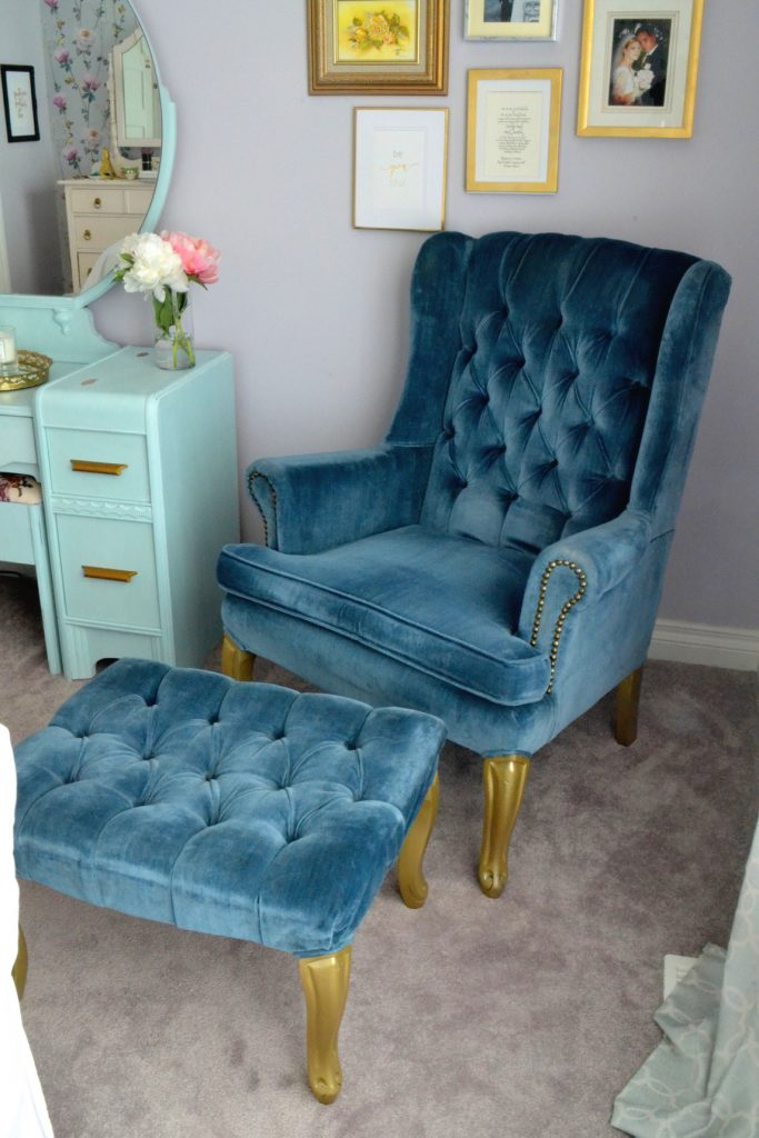 blue-winback-chair-footstool-gold-legs