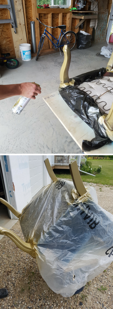 spray-painting-chair-legs-gold