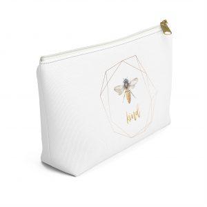 white-t-bottom-makeup-bag-bee-image-kind-word
