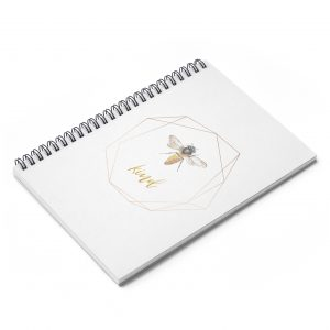 white-coil-notebook-bee-image-kind-word