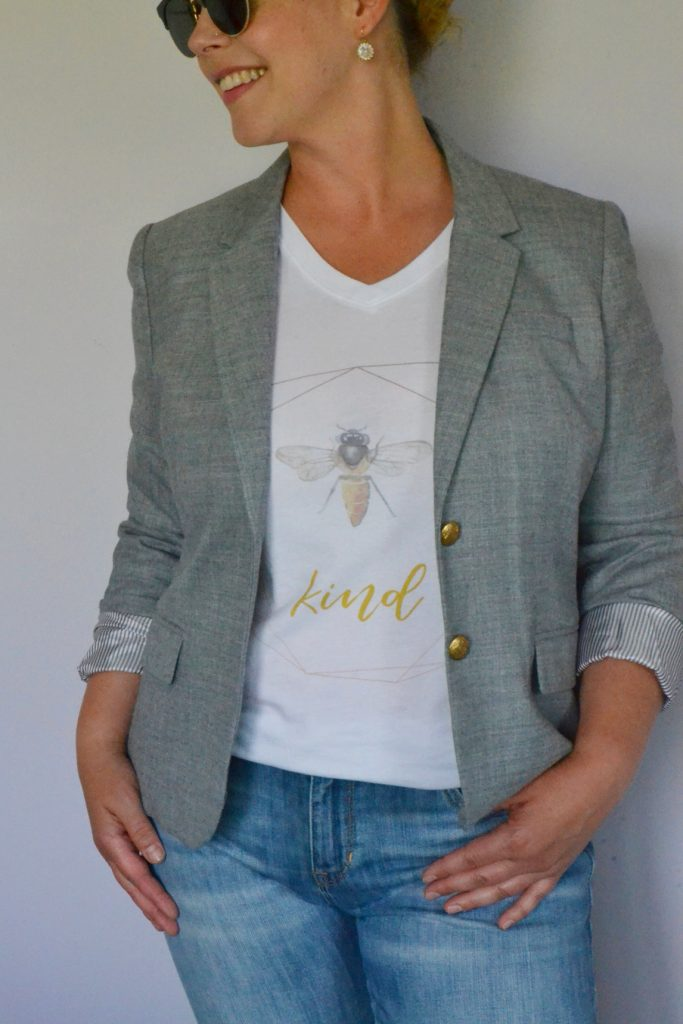 bee-image-kind-graphic-t-shirt-with-grey-blazer