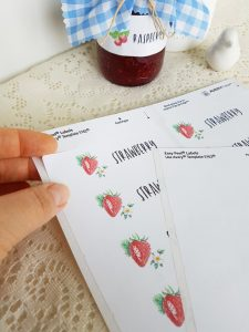 strawberry-labels-jam-jar