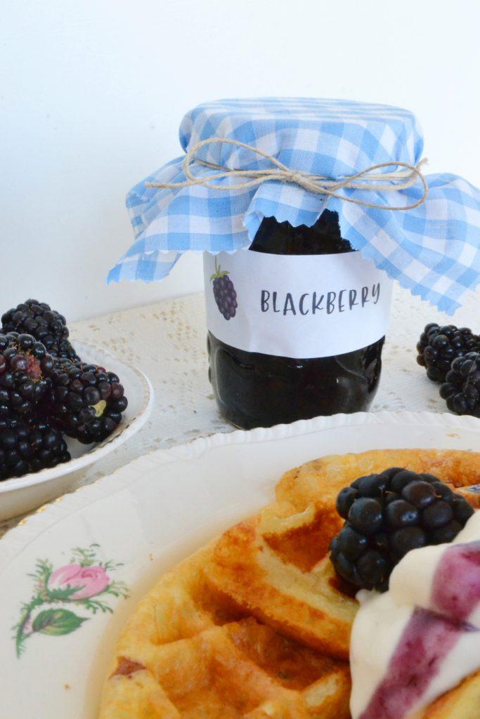 blackberries-jam-jar-waffles-whip-cream