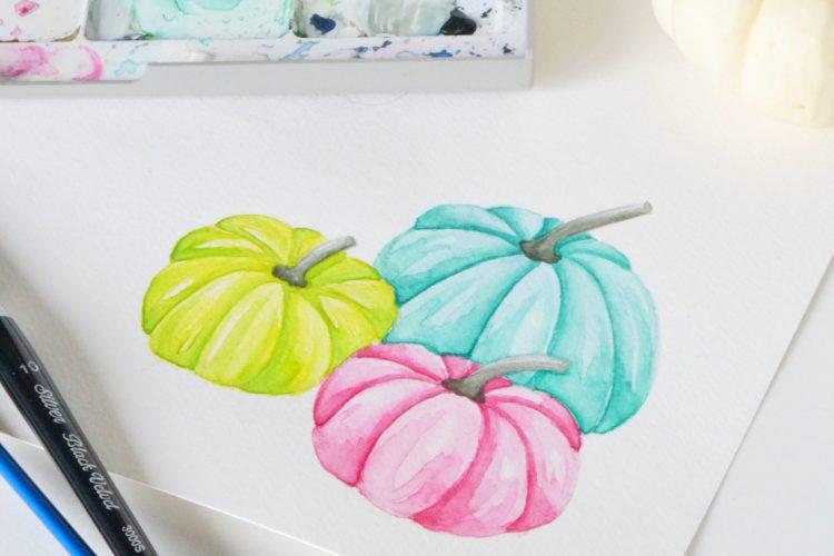Free Pastel Pumpkin Art Print