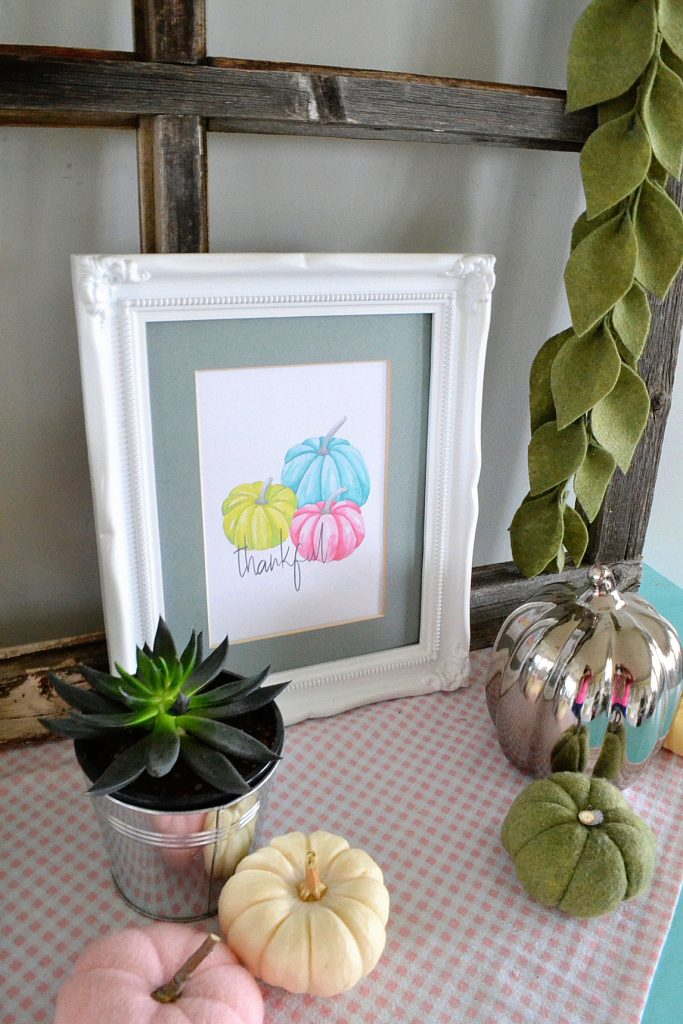 pumpkin-art-framed