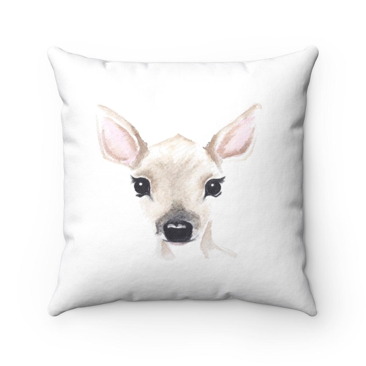 Deer Pillow Cover Paper Rose