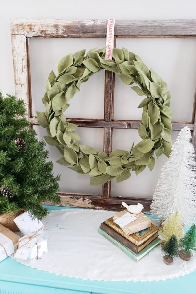 DIY Felt Leaf Wreath