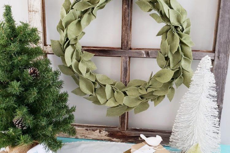 DIY Felt Leaf Wreath