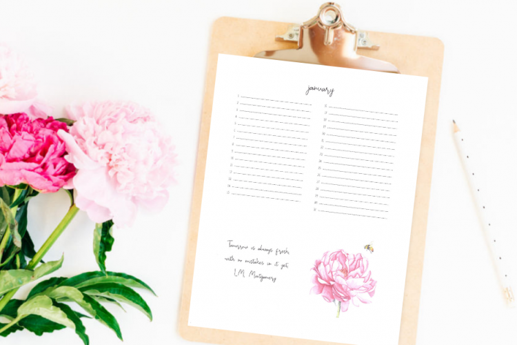 Creating a Monthly Task List