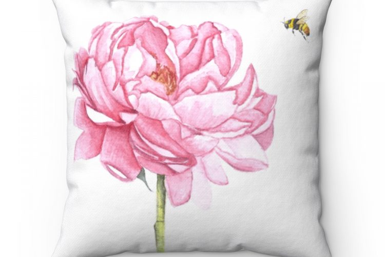 Peony Pillow Cover