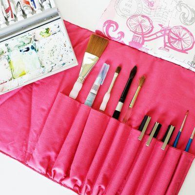 DIY Brush Roll for Artists