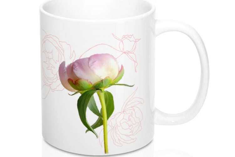 Peony Photo Art Coffee Mug