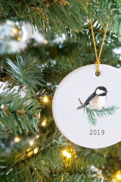 Winter Bird Christmas Ornaments