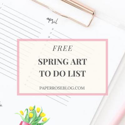 Free Printable Spring Art To Do List
