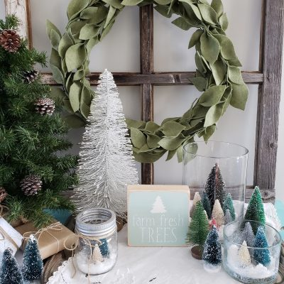 DIY Bottle Brush Tree Craft