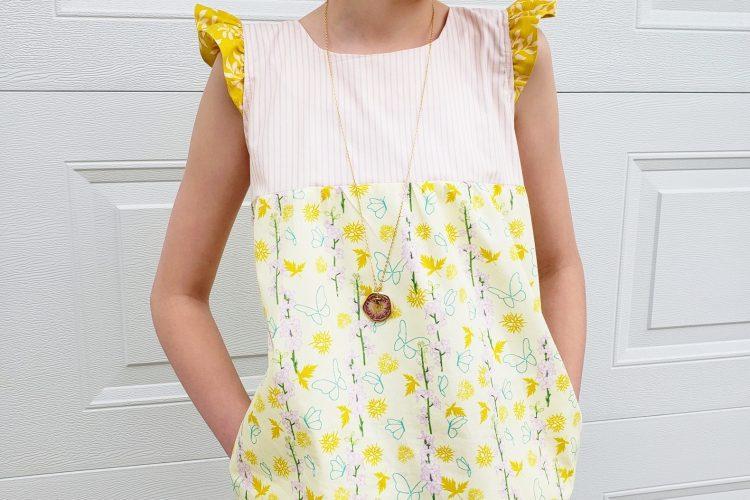 Girls-ruffle-sleeve-blouse
