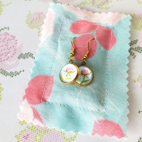 pink-peony-gold-dangle-earrings