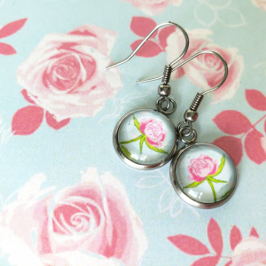 pink-peony-dangle-earrings