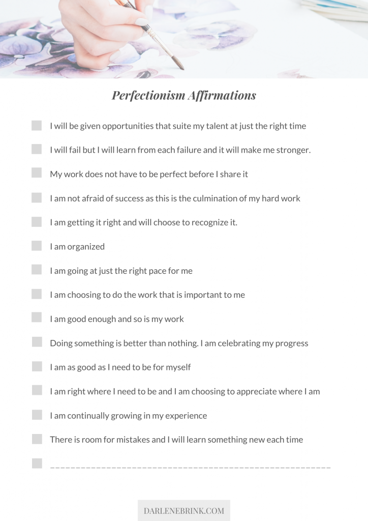 perfectionist-affirmations-list